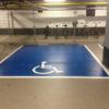 Symbool invalideparkeerplaats belijning