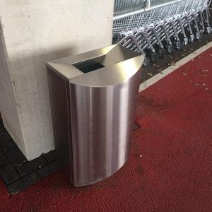 Afvalbak F1 RVS