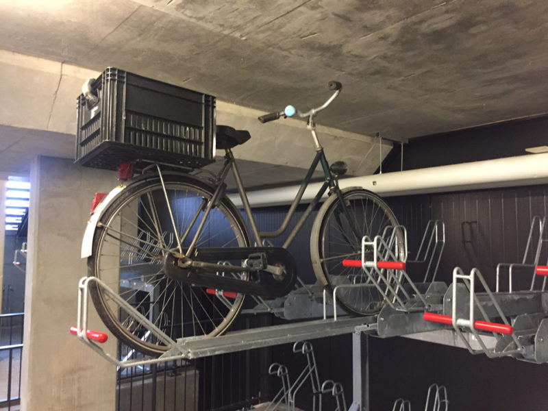 Etagerekken fietsparkeersysteem